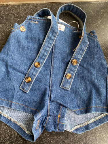 2020 Autumn New Baby Overalls Boys Girls Denim Overalls Kids Jumpsuit Children Denim Shorts photo review