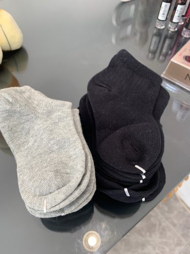 5 Pairs Baby Socks Boys Girls Black White Gray Socks Cotton Soft Newborn Babies Loose Comfortable Sock Kids School Sport Clothes photo review