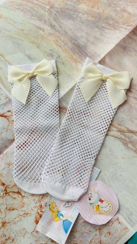 1-5 Years Breathable Fishnet Kids Socks Girls Cotton Tube Children Socks Mesh Bowknot enfants chaussettes filles детские носки photo review