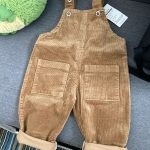 2019 Baby Autumn Jeans Overalls Infant Long Pant Kids Corduroy Rompers Baby Girls Jumpsuit LZ201 photo review