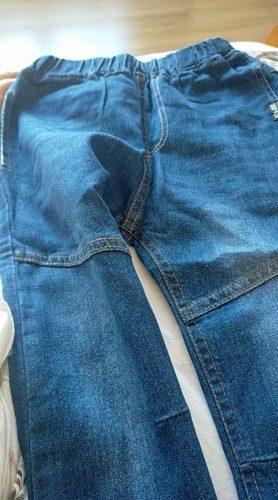 IENENS 5-13Y Fashion Children's Jeans Boy Denim Trousers Kids Clothes Baby Boys Elastic Waist Pants Slim Jeans For Boy photo review