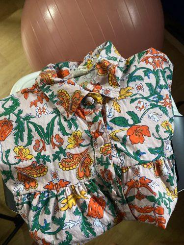 Girls Jumpsuit 2021 Summer Floral Children Overalls Pant For Kids Harem Pants Korean Girls Palysuit photo review