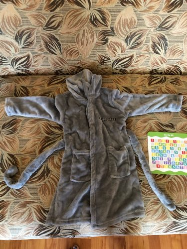 Boys and girls Flannel pajamas robe Autumn and winter Children bathrobe soft comfortable Kids baby cute homewear clothes 2-8 Y photo review