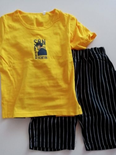 Kids Boys Clothes Boy Summer Clothing Sets Short Sleeves Print Tops Shirt pant Suits Children Clothing photo review