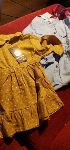 Denim Girl Blouses Clothing Autumn Baby Girls Jeans Shirts New Solid Jean Children Kids Long Sleeve Mandarin Collar Fashion Full photo review