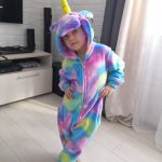 Kigurumi Children's Pajamas For Boys Girls Unicorn Pajamas Flannel Kids Panda Pijamas Suit Animal Sleepwear Winter Cat Onesies photo review