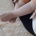 Cotton Knee Socks for Girls Big Bow Knee High Long Socks for Kids do not slip Princess Children's Socks Autumn Winter Style photo review