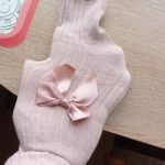 Cute Pink Bowknot Tights for Girls Mesh Cotton Girls Tights Winter Soft Comfortable Baby Girls Pantyhose Infant Clothing photo review