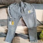 Brand Kids Cartoon Trousers Pant spring and autumn soft children baby elastic waist cotton denim jeans for boys Kids 12M-9year photo review