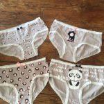 2020 Teenage Panties Panda Printed Underpants Young Girl Briefs Comfortable Cotton Gray Panties Kids Underwear Y515 photo review