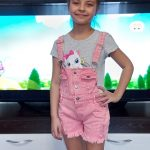 Chumhey 2-13T Kids Overalls Summer Girls Suspender Denim Shorts Pink Jeans Children Clothes Kawaii Bebe Jumpsuit Child Clothing photo review
