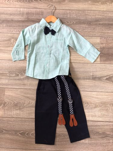 Top and Top Autumn Kids Boys Clothes Set Baby Boy Gentleman Outfit Long Sleeve Romper Shirt with Bow Tie Suspenders Trousers photo review