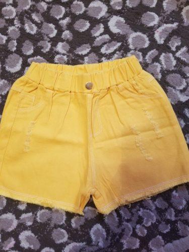 VIDMID Girls cotton Denim jeans Shorts Girls children Thin Soft Trousers Jeans Kids Children Casual Clothes Clothing P164 photo review
