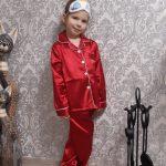 Christmas Pajamas Baby Autumn Winter Long Sleeve Silk Sleepwear Set Solid Color Comfort Girl Boy Nightwear Clothing photo review