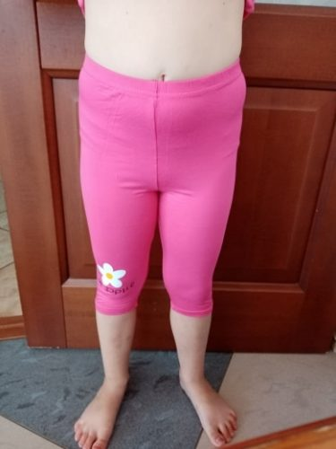 Girls Pants Toddler Summer Leggings Cotton Candy Color Knee Length Five Pants Baby Girl Black Trousers For 3 to 9Y Kids Clothes photo review