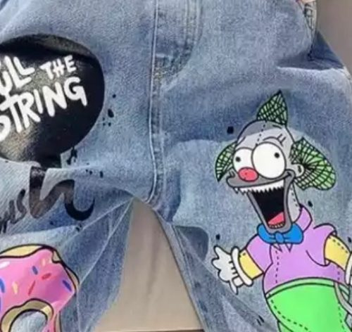 Kids Girls Cartoon Overalls 10 12 years Jeans Spring Autumn Fashion Casual Teenage Girls Pants photo review
