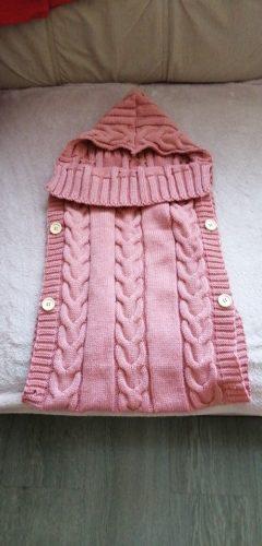 Newborn Infant Baby Blanket Knit Crochet Winter Warm Swaddle Wrap Sleeping Bags photo review