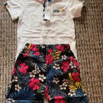 HE Hello Enjoy Kids Boys Clothes Boy Summer Clothing Sets Short Sleeves Print Tops Shirt Flower Shorts Suits Children Clothing photo review