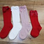 Summer Baby Girls Socks Toddlers Bow Long Sock Kids Knee High Soft Cotton Mesh Spanish Style Children 0-5 Years Breathable Socks photo review