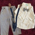 Top and Top Fashion Kids Clothing Sets Boy Gentleman Suit Long Sleeve White Bowtie Shirt Overalls 2Pcs Clothes Outfits Tuxedo photo review