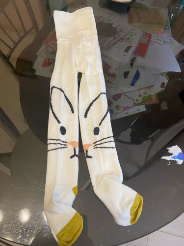 Spring Children Tights Cartoon Cat Baby Girl Pantyhose Cotton Knitted Cotton Cute Kids Stocking Baby Pantyhose Tights photo review