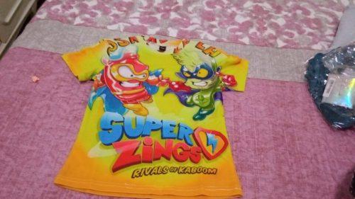2020 New Fashion T Shirt Summer Short Sleeve O-neck Tshirt Superzings Tees For Baby Boys Kids Casual Cartoon Tops Girls T-shirt photo review