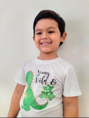 Dinosaur Birthday Shirt 1st Birthday T-Shirt Birthday Wild One Tee Dinosaur Party Shirt Dinosaur Theme Gift Boys Fashion Tee photo review