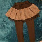 Winter Girls Warm Skirts Pants For Kids Patchwork Bowknot Princess Leggings Kids Dance Pants Cake Skirt Trousers photo review