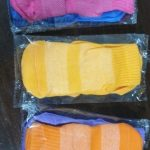 Autumn/Winter/Spring/Summer Thin And Breathable Non-slip Floor Socks Boy and Girl Rubber Socks Home Socks Cotton Candy Color photo review